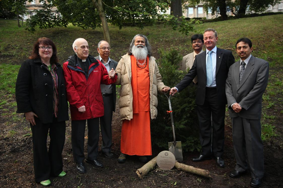 Edinburgh's first World Peace Tree, Wednesday 8th September 2010