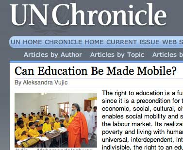 un.org - Can Education Be Made Mobile?