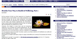 New Yoga in Daily Life Websites: Australia and Germany