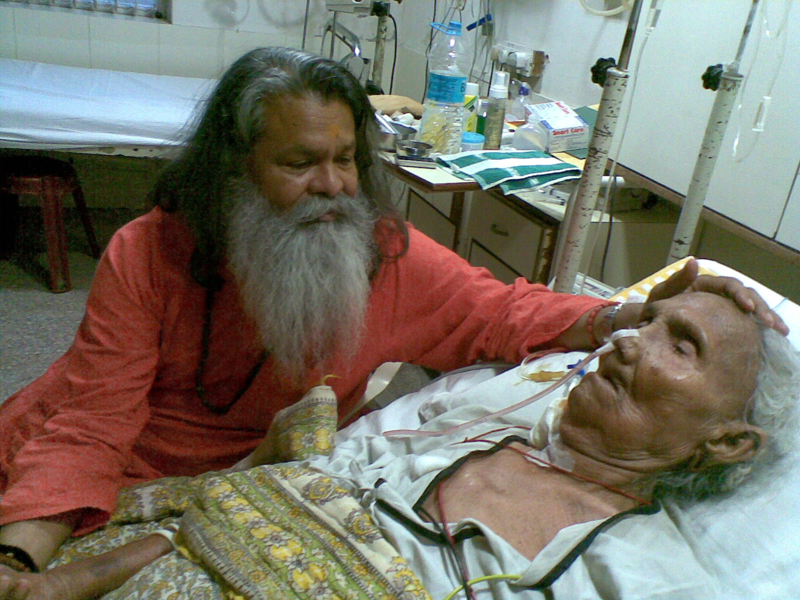 Mataji - the mother of H.H. Vishwaguru Mahamandaleshwar Paramhans Swami Maheshwarananda - is in hospital