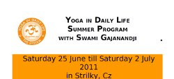2011 Summer Program With Swami Gajanandji in Strilky