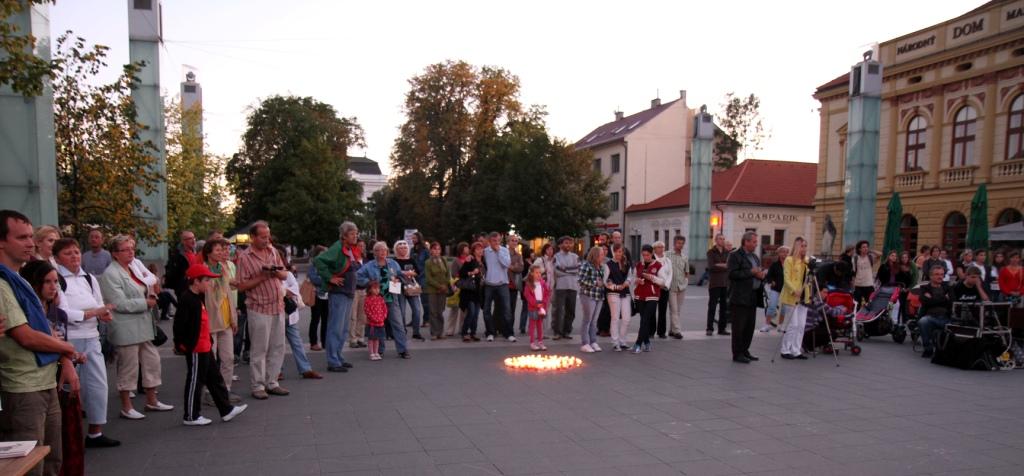 Day of Non-Violence in Martin, Slovakia 2011