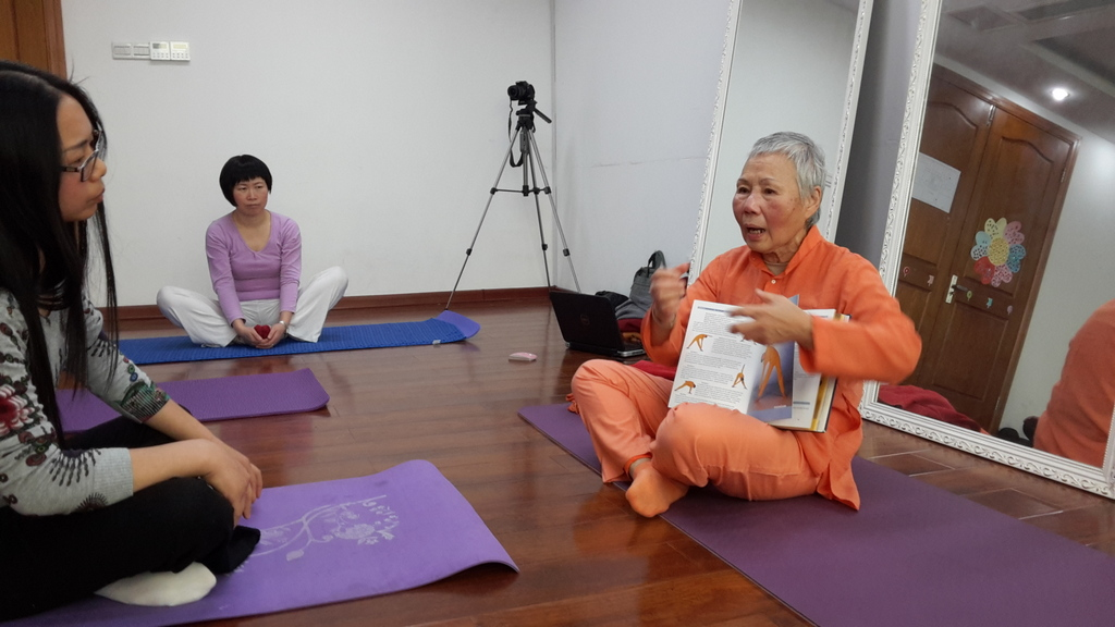 Sadhvi Daya Mata starts Yoga in Daily Life in China