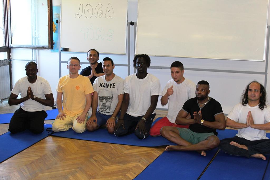 Yoga for asylum seekers in Zagreb, Croatia