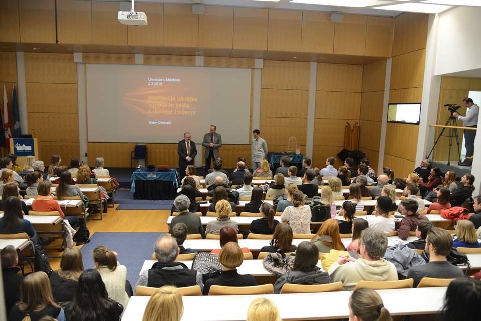 Meditation Workshop with Professor Dr. Dejan Dinevski attracts over 300 at University of Maribor, Slovenia