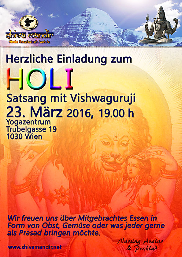 Vishwaguru Mahamandaleshwar Paramhans Swami Maheshwarananda sends Good Wishes & Blessings to all on the occasion of Holi