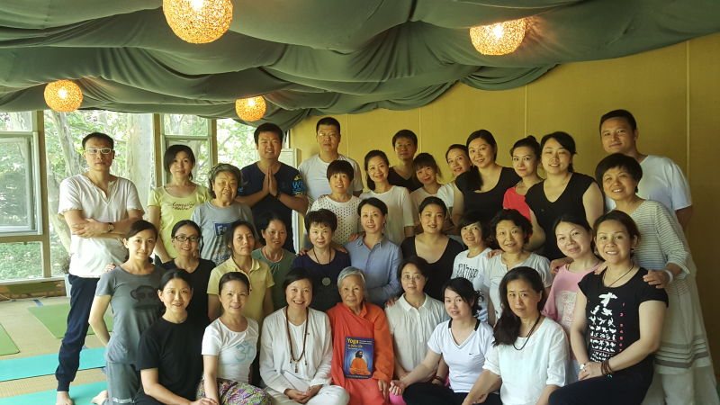Swami Daya Mata gives Yoga in Daily Life classes in Wuhan, China