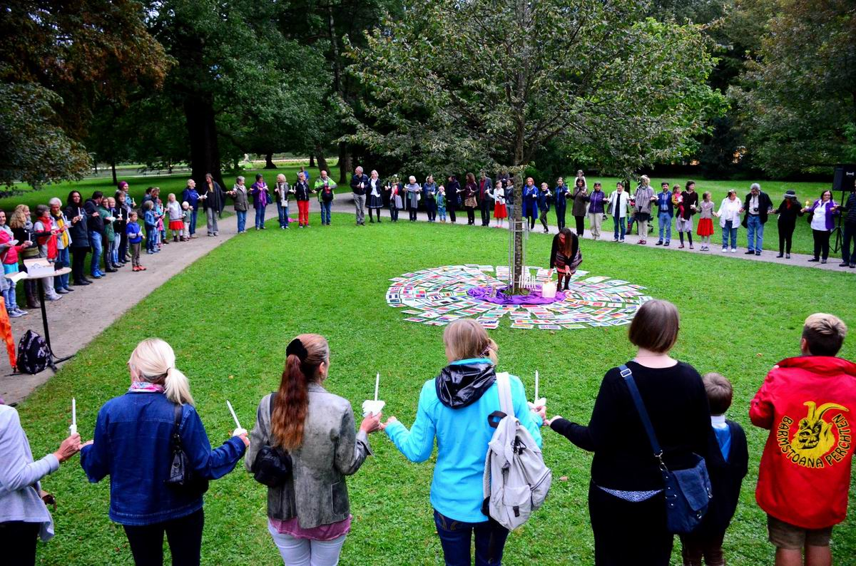 World Peace Day celebrated in historical Hellbrunn Castle park in Salzburg
