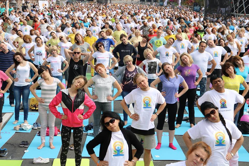 Celebrating International Yoga Day in Ukraine