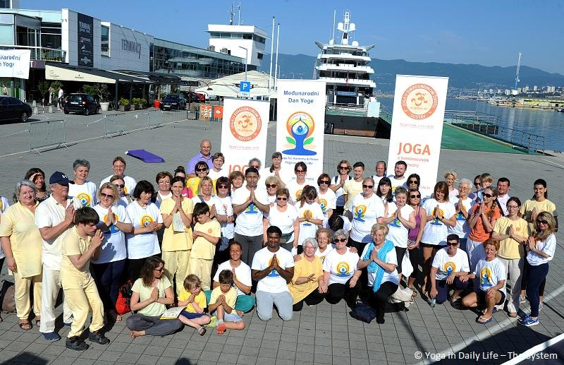 Yoga in Daily Life and Indian Ambassador celebrate IDY together in Croatia