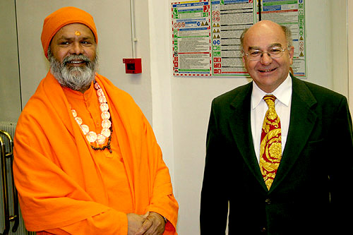 His Holiness Swamiji with the Director of the Gallus Hall, Mr. Rotovnik