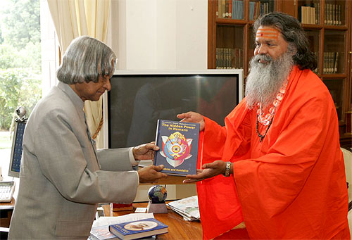 His Holiness Swamiji met with the President of India