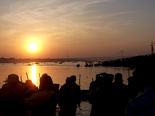 Sunset at the Ardh Kumbha Mela