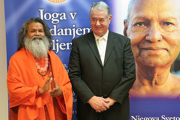 His Holiness Swamiji in Slovenia as an Ambassador of Peace