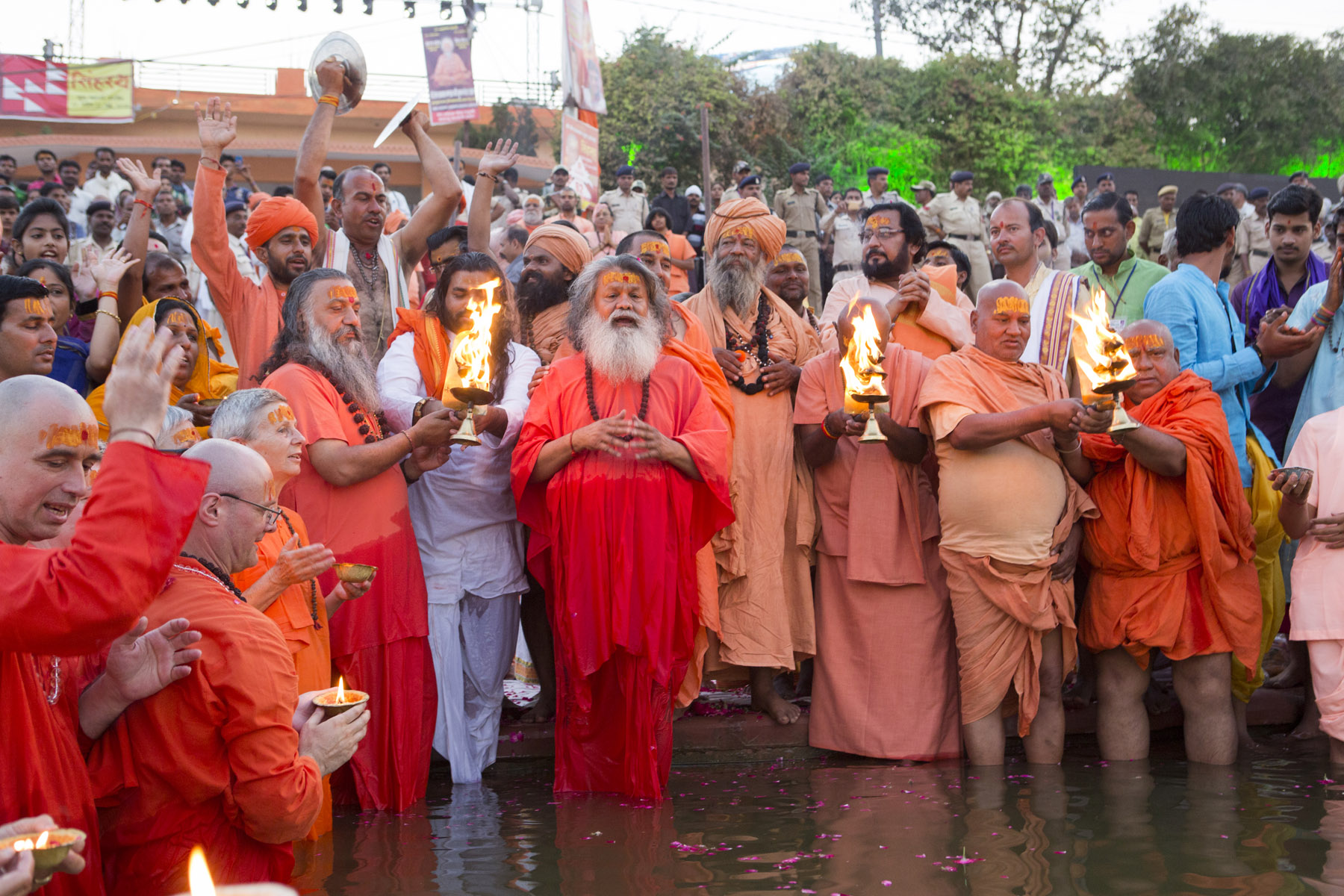 Peace Prayers on the holy River Kshipra, Ujjain